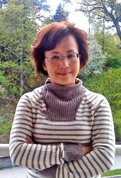 Nữ đạo diễn Song Chi ngày mới đến Nauy. Photo courtesy by Song Chi