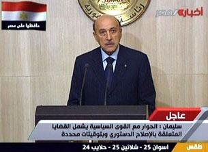 Phó tổng thống Ai Cập, ông Omar Suleiman được đề cử ra điều đình với phe biểu tình. AFP