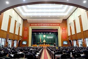 Một kỳ họp Quốc Hội ở Hà Nội. AFP