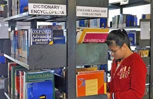 Trong thư viện của đại học RMIT. Ảnh minh họa, AFP