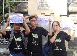 Các bloggers kêu gọi trả tư do cho các người yêu nước. Courtesy danlambao