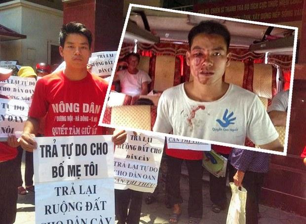 Anh Trịnh Bá Tư con trai của Ông Bà Trịnh Bá Khiêm - Cấn Thị Thêu cùng dân oan khiếu nại trước tòa năm 2014, và Trịnh Bá Tư bị đánh hội đồng hôm đi đón bố ngày 25 tháng 6, 2015