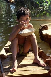 Nhiều gia đình không thể cải thiện chất lượng thực phẩm cho con là vì hoàn cảnh nghèo khó, AFP  PHOTO