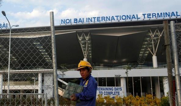 Nhà ga T2 sân bay quốc tế Nội Bài, Hà Nội. Reuters