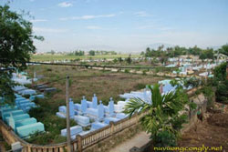 Nghĩa trang Cồn Dầu. Photo courtesy of nuvuongcongly