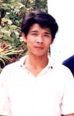 Anh Trương Quốc Huy trước khi bị bắt giam. RFA file