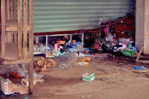 Hiện trường vụ nổ mìn. Source tienphong online