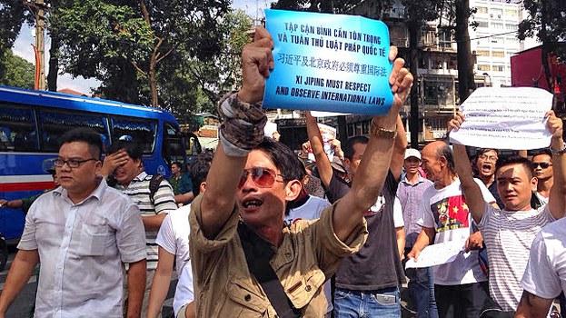 Biểu tình chống ông Tập Cận Bình tại Sài Gòn hôm 5/11/2015.