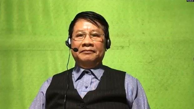 Ông Trần Quốc Khánh khi thực hiện Livestream về Nhà nước Pháp quyền trên Facebook hôm 6/3/2021. Courtesy Facebook Tran Quoc Khanh.