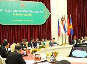 Hội nghị Bộ trưởng Ngoại giao ASEAN lần thứ 45 (AMM) ngày 9/7/2012