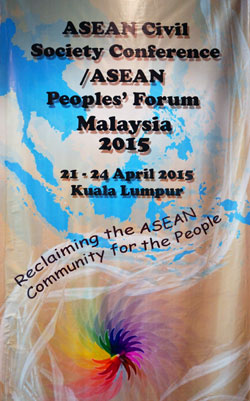 Bích chương Diễn đàn Công dân ASEAN 2015. RFA