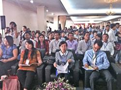 Đại diễn các tổ chức dân sự từ các nước  ASEAN tại diễn đàn, ngày 29/3/2012. Photo Quốc Việt, RFA