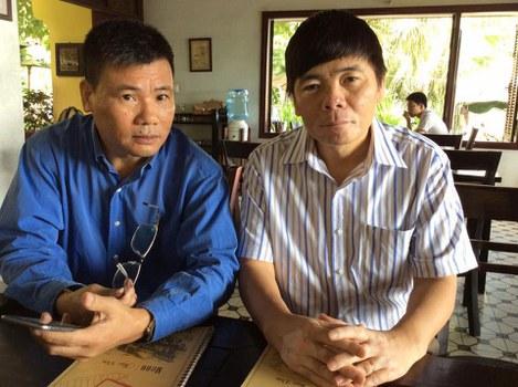 Blogger Trương Duy Nhất và luật sư Trần Vũ Hải.