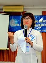 Chị Nguyễn Ngọc Lụa trong buổi hội thảo về tự do báo chí. (fvpoc.org)