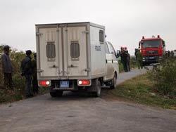 Chiếc xe chở 6 người bị bắt trong vụ nổ súng ở Tiên Lãng. Photo courtesy of dantri