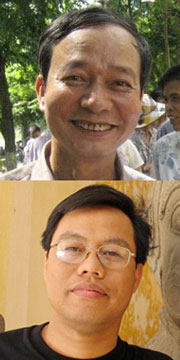 Từ trên xuống: Bloger Nguyễn Tường Thuỵ , và TS Nguyễn Xuân Diện