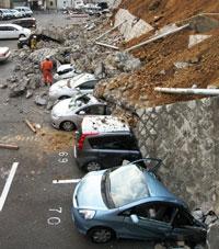 Động đất tàn phá. AFP photo