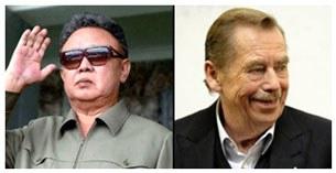 Ông Kim Jong-il và ông Vaclav Havel.