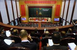 Toàn cảnh buổi lễ khai mạc Kỳ họp thứ 6 quốc hội khóa 13 của Việt Nam hôm 21/10/2013. AFP photo
