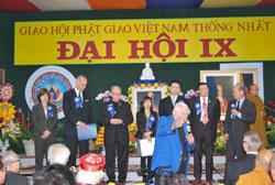 Đại hội GHPG Việt Nam Thống nhất kỳ IX tại California hôm 18/11/2011. Courtesy Vietbao.