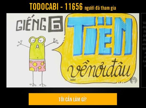 Trang web Todocabi ngày 21 tháng 6, 2015 cho biết đã có 11656 người tham gia chiến dịch