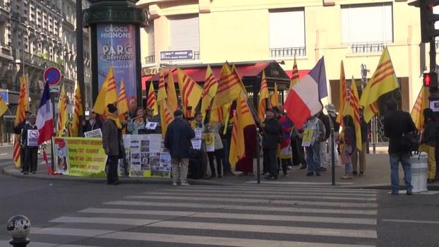 Biểu tình phản đối Chủ tịch Quốc hội Nguyễn Thị Kim Ngân ở Paris, Pháp