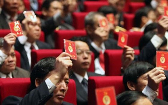 Ảnh minh họa: Đảng viên đảng cộng sản Việt Nam trong một lần biểu quyết.