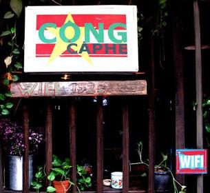 Quán cà phê Cộng tại Hà Nội.