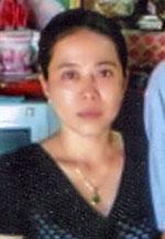 Chị Nguyễn Thị Anh Thư,  con gái của ông Nguyễn Hữu Cầu. RFA file