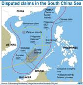 Bản đồ hình lưỡi bò do Trung Quốc tự công bố nhằm chiếm trọn biền Đông.AFP