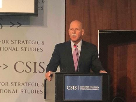 Đô đốc về hưu Scott H. Swift tại hội thảo Biển Đông lần thứ 9 ở CSIS, Washington DC hôm 24/7/2019