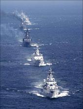 Chiến hạm Nga hoạt động thao diễn trên biển TBD năm 2009. Source militaryphotos.net