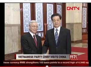 TBT Nguyễn Phú Trọng và Chủ tịch Trung Quốc Hồ Cẩm Đào