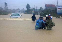 Lũ lụt ở Hà Tĩnh sau cơn bão số 10 hồi cuối tháng 9 năm 2013. RFA PHOTO.