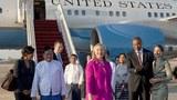 Nữ Ngoại trưởng Hoa Kỳ Hillary Clinton đã đến Miến Điện trong chuyến thăm hai ngày .