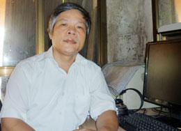 Thầy Đỗ Việt Khoa, người cung cấp clip sai phạm của Hội đồng thi Trường THPT DL Đồi Ngô (Ảnh Thu Hòe)-Giaoduc.net