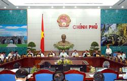 Thủ tướng Nguyễn Tấn Dũng tại phiên họp thường kỳ Chính phủ hôm 29/5/2014. Courtesy chinhphu.vn