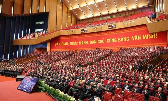 Phiên khai mạc Đại hội đại biểu toàn quốc lần thứ 13 của Đảng Cộng sản Việt Nam 26/1/2021 tại Hà Nội.