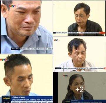 Chính quyền Hà Nội đưa hình ảnh người dân Đồng Tâm bị bắt giữ lên Đài truyền hình VTV do nhà nước kiểm soát.