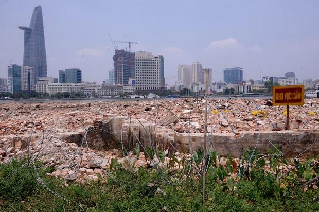 Hình minh hoạ. Công trường xây dựng ở trung tâm thành phố Hồ Chí Minh năm 2011