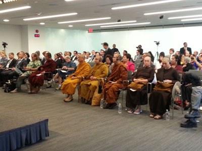 """Các vị quan khách tham dự Hội thảo: """"Tự do Tôn giáo tại Việt Nam: Tầm quan trọng đối với an ninh khu vực và toàn cầu"""" được tổ chức ở Viện Hudson-Hudson Institute, Washington DC, vào hôm 12 tháng 9 năm 2016. RFA PHOTO."""
