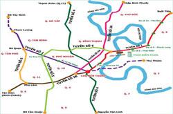 Sơ đồ quy hoạch các tuyến metro tại TPHCM. Courtesy TBKTSG.