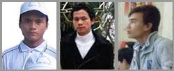 (từ trái)Anton Ðậu Văn Dương , Phero Trần Hữu Đức, và Anton Chu Mạnh Sơn. RFA files