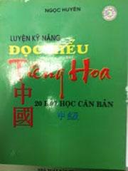 """Bìa sách """"Luyện kỹ năng đọc hiểu tiếng Hoa"""". Photo courtesy of hoangsa.org."""