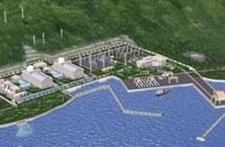 Mô hình nhà máy điện hạt nhân sẽ được xây dựng ở Ninh Thuận. File photo.