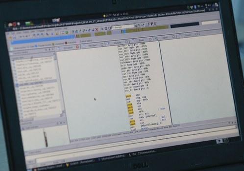 Minh họa: Hiển thị phần mã của một malware.