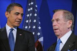 Tổng thống Obama và Tổng thống Havel hội kiến tại Prague năm 2009- AFP photo