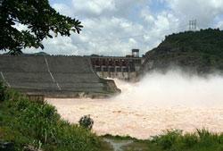 Đập thủy điện Sông Tranh 2. File photo.