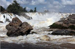 Thác Khone thuộc dòng sông Mekong trên địa phận Lào.RFA