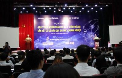 Tọa đàm Phát triển nguồn nhân lực ICT được tổ chức tại Hà Nội hôm 30 tháng 3 năm 2019.